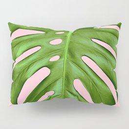 Pink Monstera Pillow Sham