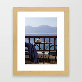 Time For Vacations By The Sea Framed Art Print