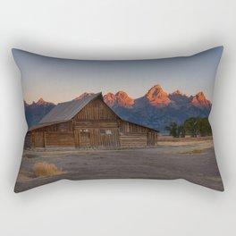 Moulton Barn - Sunrise in Grand Tetons Rectangular Pillow