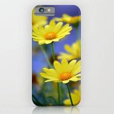 Yellow Daisies Blues iPhone 6s Slim Case
