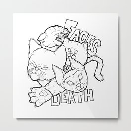 Faces of Death Metal Print