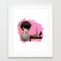 baking Framed Art Prints featuring Baking disaster by Katerina Liakopoulou