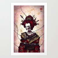 pain Art Prints featuring Pain by En Tze