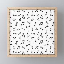 Music Pattern | Note Instrument Musical Listening Framed Mini Art Print