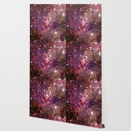Galaxy : Eagle Nebula Mauve Burgundy Purple Gold Wallpaper