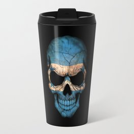 Dark Skull with Flag of Honduras Travel Mug