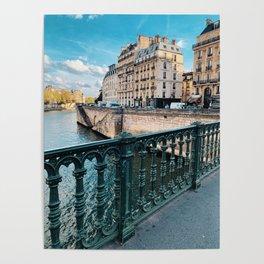 Ile Saint Louis Paris - Bridge View Poster