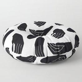Hands Pattern Floor Pillow