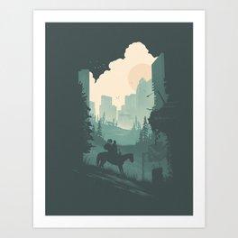 Ellie & Dina Art Print