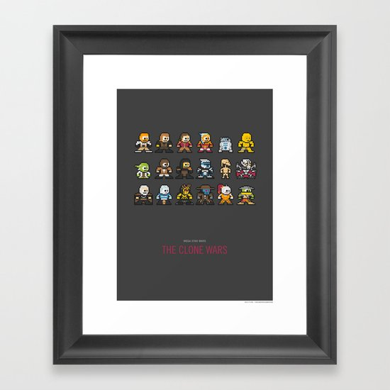 Mega Star Wars: The Clone Wars Framed Art Print