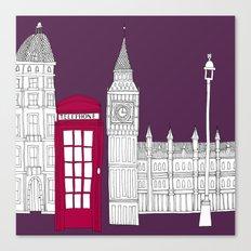Night Sky // London Red Telephone Box Canvas Print