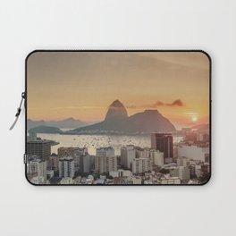 View over Botafogo towards the Sugarloaf Mountain at sunrise, Rio de Janeiro, Brazil Laptop Sleeve
