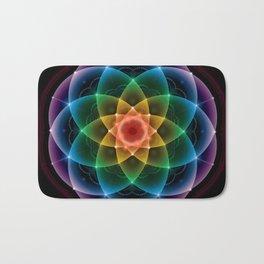 Sacred Rainbow Mandala Bath Mat