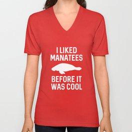 I Liked Manatees Unisex V-Neck