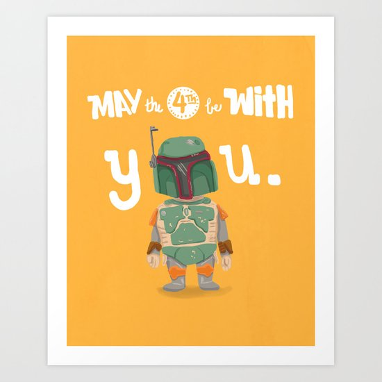 Boba Fett holiday  Art Print