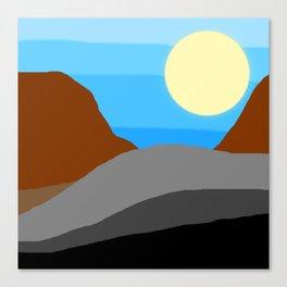 Cool Western Sun Canvas Print