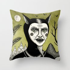 Twilight Green Throw Pillow
