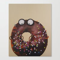 doughnut Canvas Prints featuring Doughnut by Neislotova