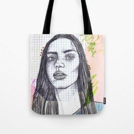 Mixed Media Sketch Tote Bag