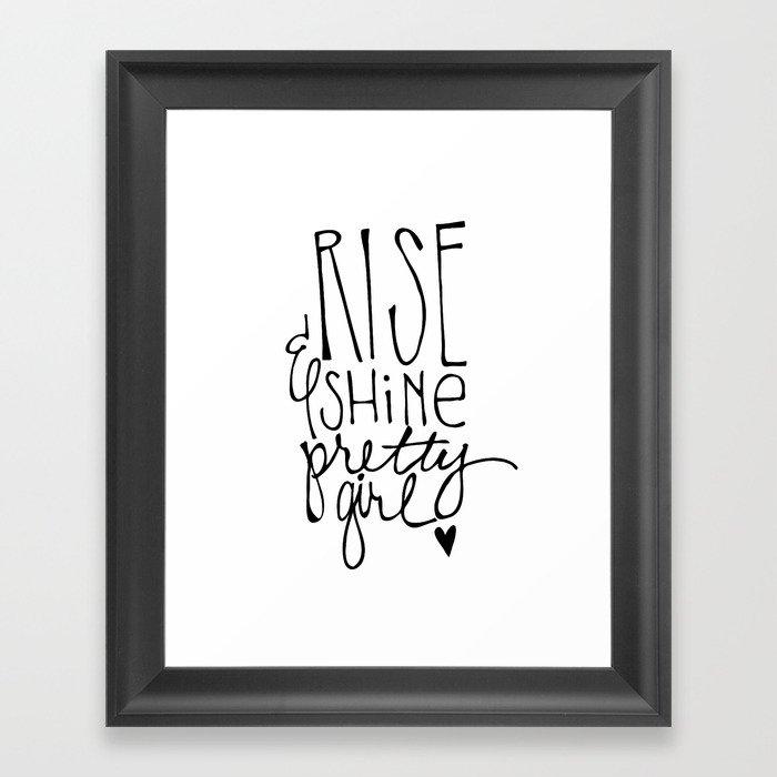 Rise & Shine Pretty Girl by Jessica Kirkland Framed Art Print by ...