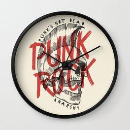 Punk Rock Skull Wall Clock