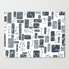 Cityscape, Stained Glass Intervention Canvas Print