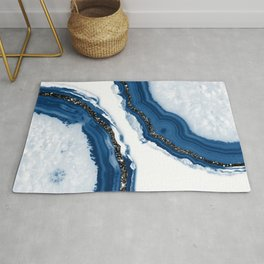 Agate Glitter Glam #14 #gem #decor #art #society6 Rug