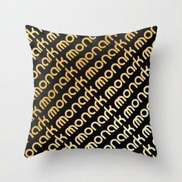 M-Slants Throw Pillow