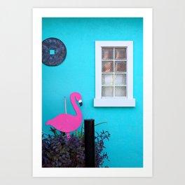 Folly Flamingo Art Print