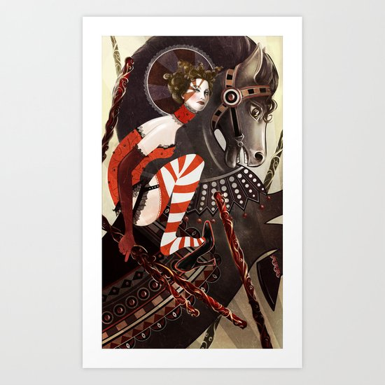 Amanda Palmer Six of Wands Art Print