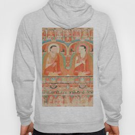 Portrait of Two Lamas, 13th Century Tibetan Art Hoody