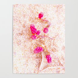 flowers in the dunes Poster