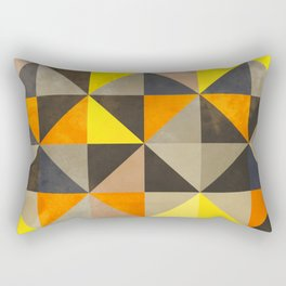 Old School Vintage 70s Tile Pattern Rectangular Pillow