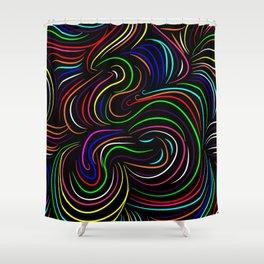 Hair pattern Shower Curtain