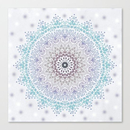 BLUE SUMMER MANDALA Canvas Print