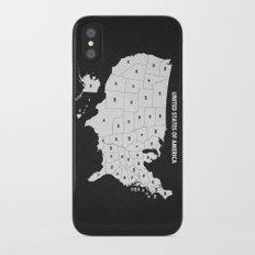 Black & White U.S.A. Map iPhone X Slim Case