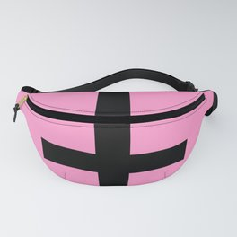 Inverted Cross on Pink Fanny Pack
