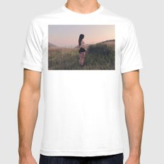 Mystery in the Mountains MEDIUM White Mens Fitted Tee