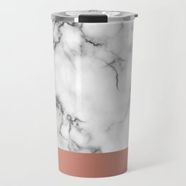 Marble & copper Travel Mug