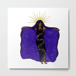 Galaxy Goddess Metal Print