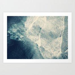 Ice Blue Surf Art Print