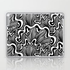 Black and white organic striped shapes Laptop & iPad Skin