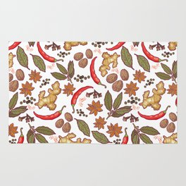 Spices pattern. Rug