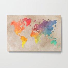 World Map Maps #map #maps #world Metal Print