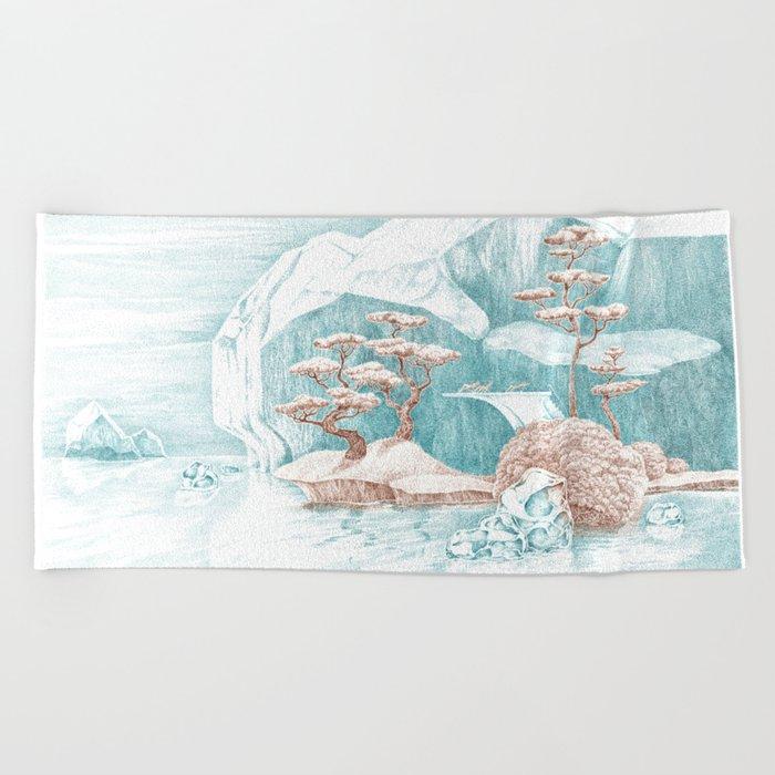 Arctic Mirage Beach Towel