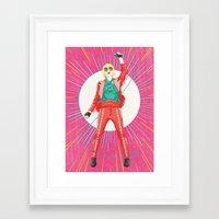 karen hallion Framed Art Prints featuring Karen O by felixdrewthis