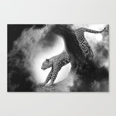 Leopard Night Hunt Canvas Print