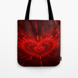 Cupid's Arrows | Valentines Day | Love Red Black Heart Texture Pattern Tote Bag