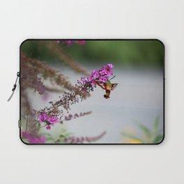 Hummingbird Sphinx Moth in Phlox Laptop Sleeve