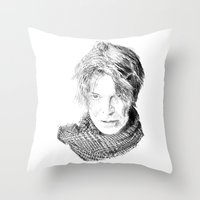 lucas david Throw Pillows featuring David by Rabassa
